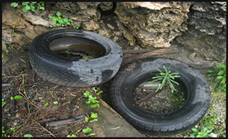 Discarded tires