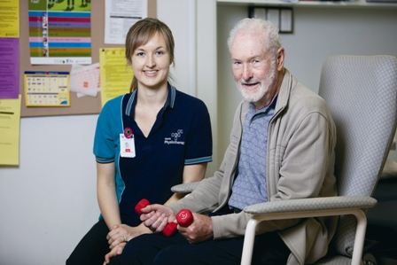 Occupational therapist with senior