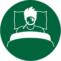 Icon: stay in bed