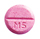 Marevan brand warfarin tablet (pink marked with 5)