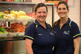 Dietitians Emily Hunt and Louise Hesketh