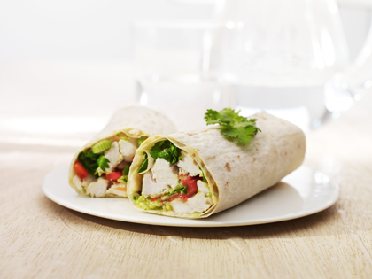 Sweet chili chicken wrap