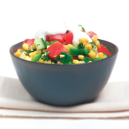 Mexican corn and tomato salad