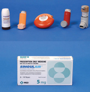 asthma steroid pill names