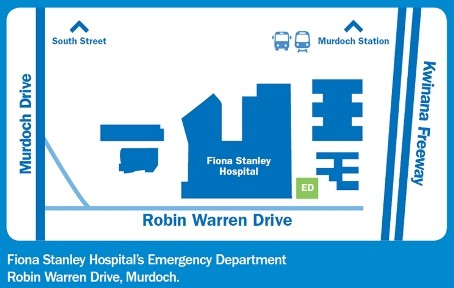 Fiona Stanley Hospital emergency department map