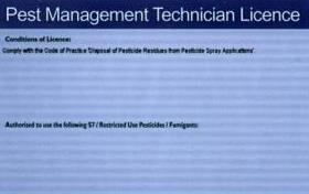 Back view: Western Australia Pest Management Technician Licence