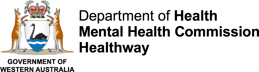 Logo: Government of Western Australia – Department of Health, Mental Health Commission and Healthway