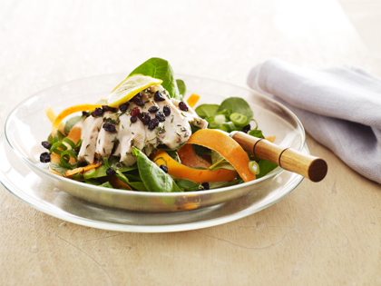 Warm lemon chicken salad