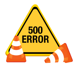 500 web error sign